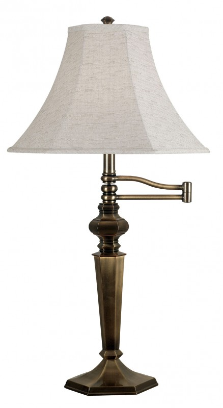 lamps table lamps 20616gbrz mackinley swing arm table lamp. Black Bedroom Furniture Sets. Home Design Ideas