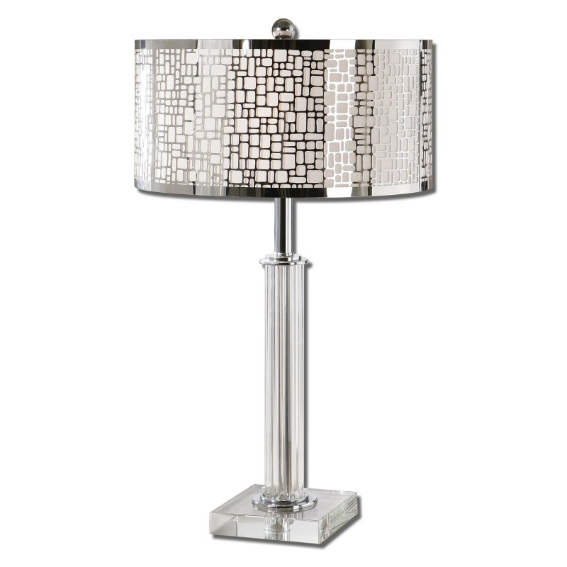 Uttermost 26578 1 lucius crystal column table lamp districtdecor 26578 1 lucius crystal column table lamp loading zoom aloadofball Choice Image