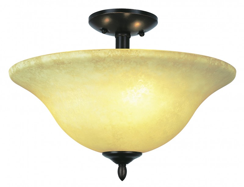 Trans Globe Lighting Farmhouse 2 Light Semi Flush Mount