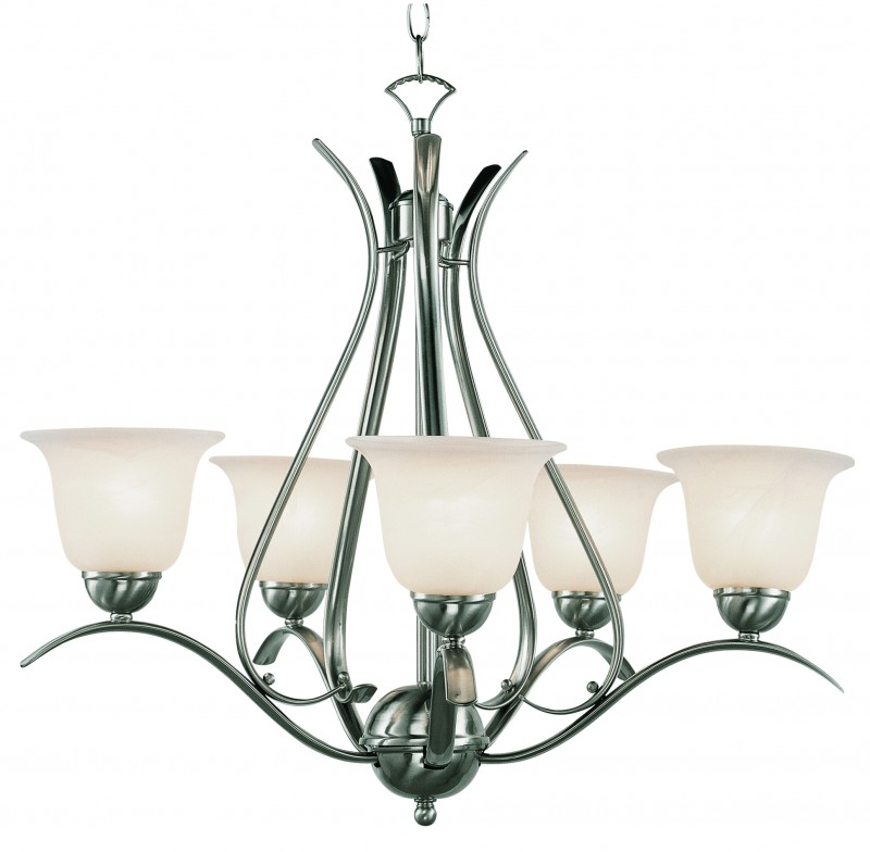 Kitchen Lighting Fixture Sets: Ribbon Branched 5 Light Chandelier