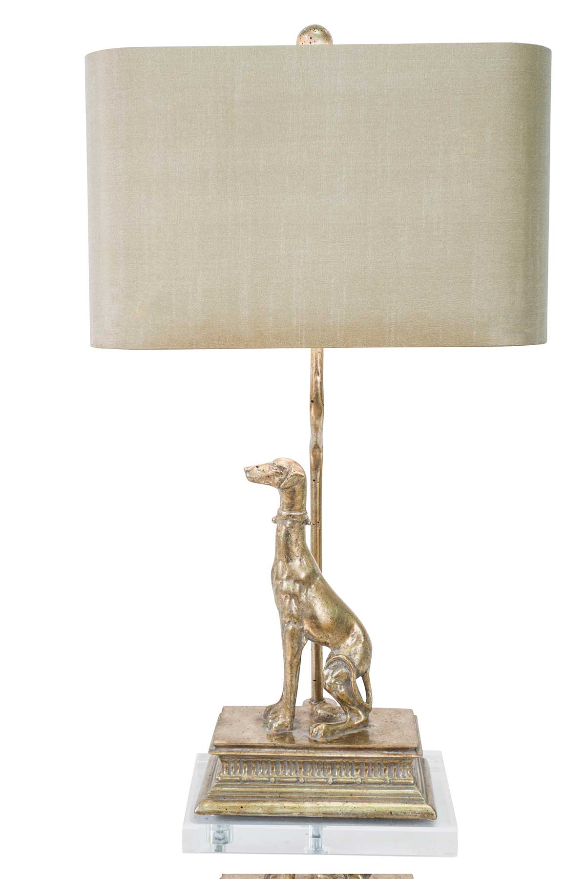 Couture 28 Quot H Regal Dog Table Lamp Dog Facing Left