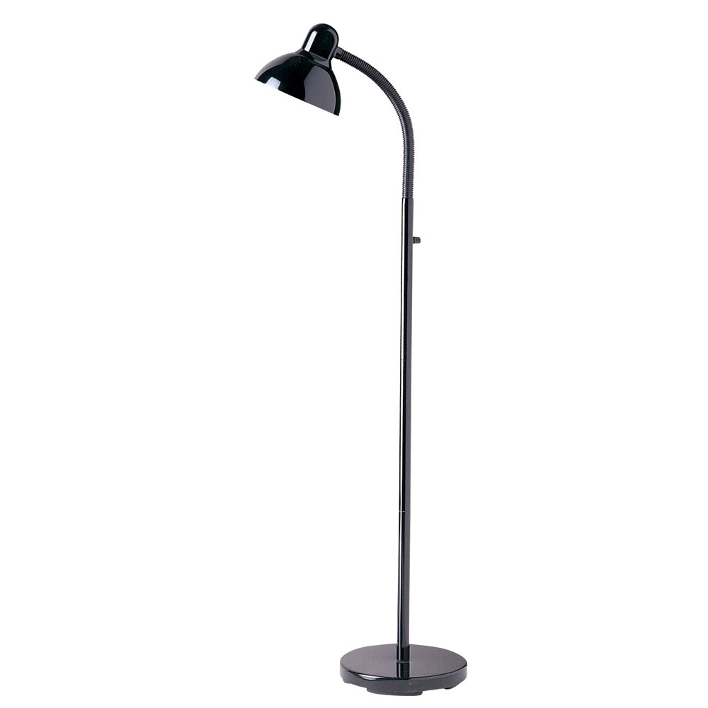Dainolite dm238 f bk black adjustable gooseneck floor for Dainolite 7 light floor lamp