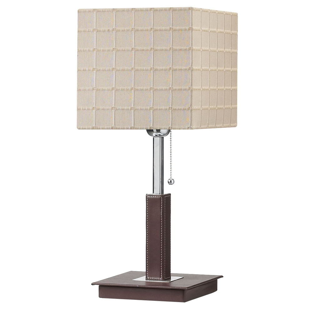 Lighting gt lamps gt table lamps gt dm506 be brown leather wrapped stem