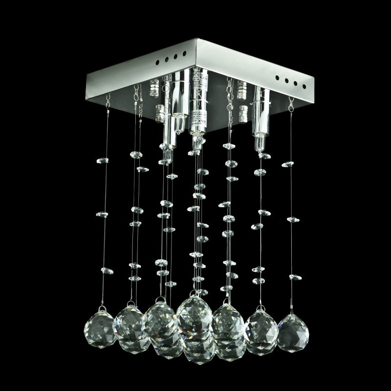 Evrosvet contemporary crystal square 4 light crystal chandelier contemporary crystal square 4 light crystal chandelier flush mounted 8 x 8 loading zoom aloadofball Choice Image