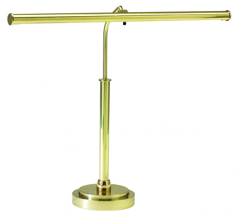 House of troy led piano lamp polished brass districtdecor for Led piano floor lamp