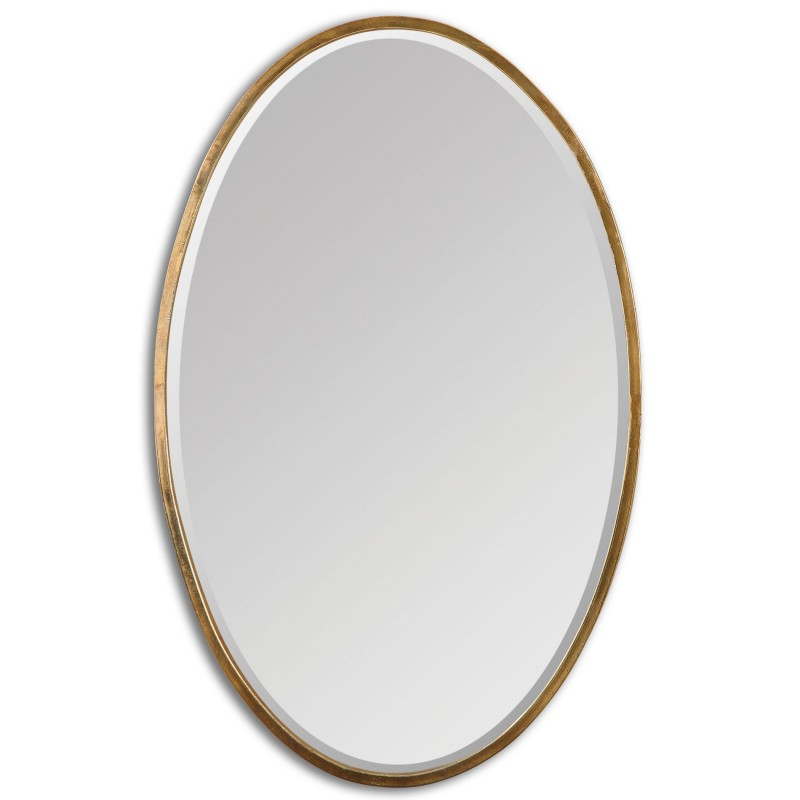 Uttermost 12894 Herleva Gold Oval Mirror Districtdecor