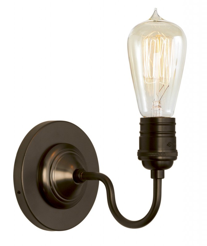 Stone Lighting - Wall Sconce Retro Bronze Medium Base Retro Bulb 60W - DistrictDecor