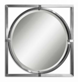 01053 B Kagami Brushed Nickel Mirror