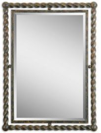 01106 Garrick Wrought Iron Mirror