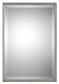 01113 Sherise Brushed Nickel Mirror