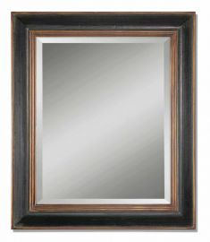 07023 B Fabiano Black Wood Mirror
