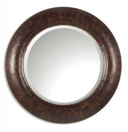 07515 B Leonzio Leather Mirror