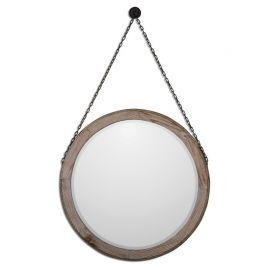 07656 Loughlin Round Wood Mirror