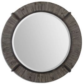 07657 Clint Round Wood Mirror