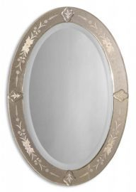 08032 B Donna Antique Oval Mirror