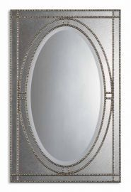 08055 B Earnestine Antique Silver Mirror