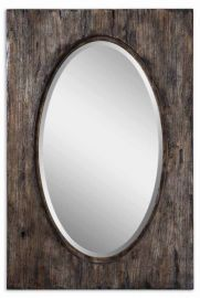 09503 Hichcock Distressed Oval Mirror
