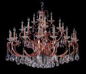 10369-007-fr001 Cesti 28-light Chandelier W/ Clear Firenze Crystal Black Pearl