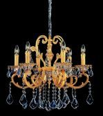 10599-016-se001 6-light Chandelier Two-tone Gold /24k