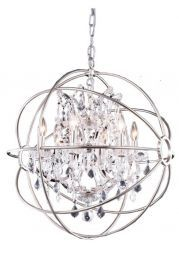 1130D25PN/RC Urban Polished Nickel Pendant,  Crystal Trim Crystal (Clear)