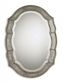 12530 B Fifi Etched Antique Gold Mirror