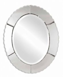 12573 B Evana Frameless Oval Mirror