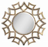 12730 B Demarco Round Antique Gold Mirror