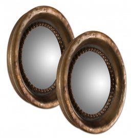 12847 Tropea Rounds Wood Mirror S/2