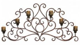 13446 Juliana Metal Wall Art Sconce