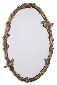 13575 P Paza Oval Vine Gold Mirror