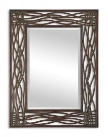 13707 Dorigrass Brown Metal Mirror