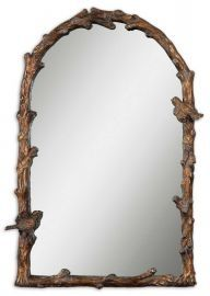 13774 Paza Antique Gold Arch Mirror