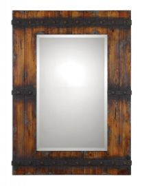 13804 Stockley Rustic Mahogany Mirror