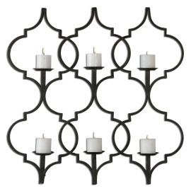 13998 Zakaria Metal Candle Wall Sconce