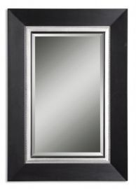 14153 B Whitmore Black Vanity Mirror