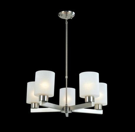 152-5 5 Light Chandelier, Brushed Nickel