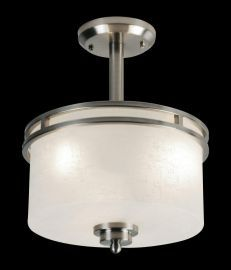 152SF 3 Light Semi Flush Mount, Brushed Nickel