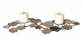 17079 Lying Lotus Metal Candleholders