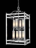 180-8 8 Light Pendant, Chrome