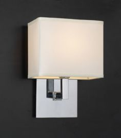 18194 PC Off-White Fabric Shade Dream Wall Sconce