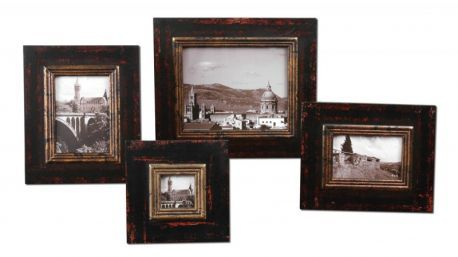 18520 Kitra Distressed Black Photo Frames, Set/4