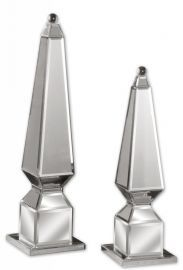 19025 Alanna Mirrored Finials, Set/2