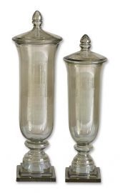 19148 Gilli Glass Decorative Containers, Set/2
