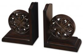 19251 Chakra Distressed Bookends, Set/2