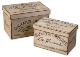 19300 Chocolaterie Decorative Boxes, Set/2