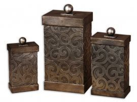 19418 Nera Metal Decorative Boxes, Set/3