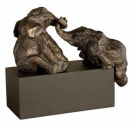19473 Playful Pachyderms Bronze Figurines