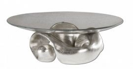 19484 Entwined Silver Leaf & Glass Bowl