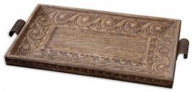 19494 Camillus Wood Framed Decorative Tray