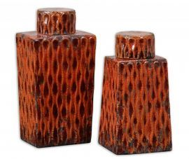 19504 Raisa Burnt Orange Containers, Set/2